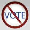 No Vote Sign