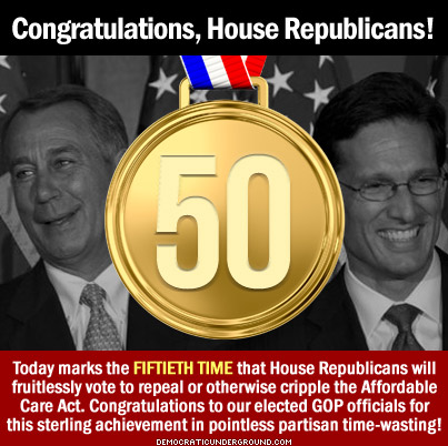 Congratulations House Republicans