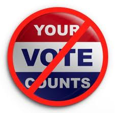 Voter Suppression - Your Vote Counts - Not