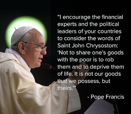 Pope Francis on Sharing