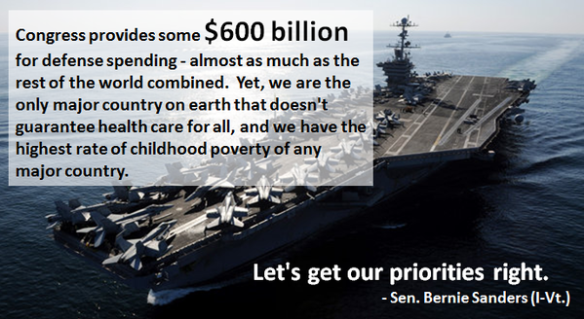 Bernie Sanders - Let's get out Priorities right