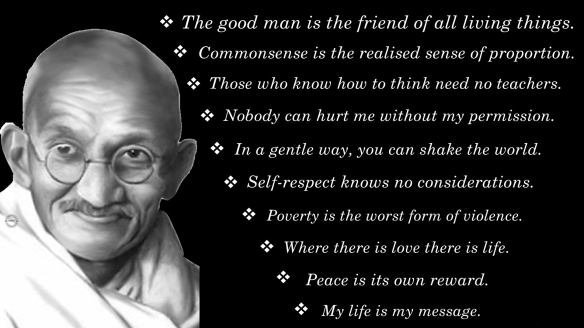 Gandhi - Good man quote