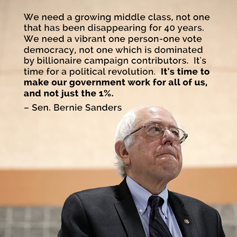 Bernie Sanders - We need a growing middle class